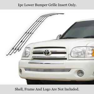 Fits 2003 2006 Toyota Tundra Bumper Stainless Steel Billet Grille Insert
