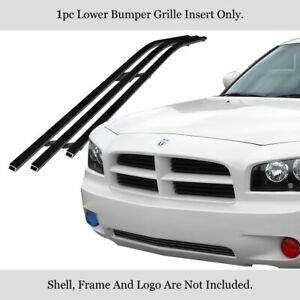 Fits 2005 2010 Dodge Charger Lower Bumper Stainless Black Billet Grille Insert Fits 2010 Dodge Charger