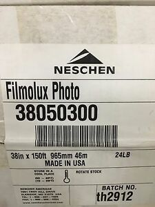 Neschen Graphics Filmolux Gloss 38inch X 150ft Lamination Roll