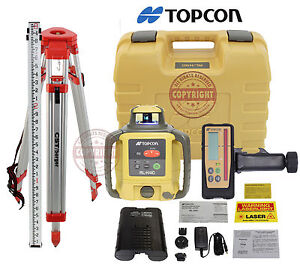Topcon Rl h4c Rb Rechargeable Self leveling Rotary Grade Laser Level 10th