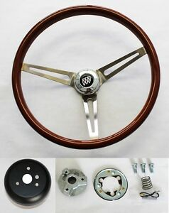 1969 1993 Buick Skylark Gs Wood Steering Wheel 15 High Gloss Finish Ss Spokes