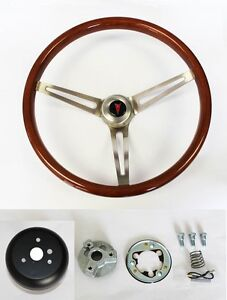 New 1964 1966 Pontiac Gto Wood Steering Wheel 15 High Gloss Grip