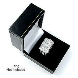 New 48 Black Leatherette Ring Jewelry Display Gift Boxes