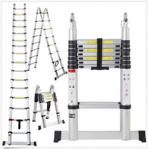 Ladder 16 5 Ft Aluminum Folding Telescoping Telescopic Extension Multi Purpose