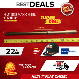 Hilti Chisel Narrow Sds Max 1 X 15 1 2 Preowned Free Eagle Hat Fast Shipping