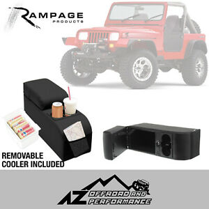 Rampage Padded Locking Center Console 76 95 Jeep Cj 7 Wrangler Yj 32001 Black