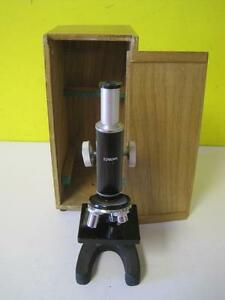 Edmund Scientific Microscope 300x Wooden Case 5 15 30x 10x Eyepiece Adjustable