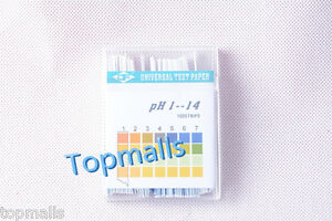 50pack lot Alkaline Ph Test Paper Strips Indicator Litmus Kit Testing Ph1 14