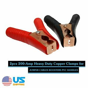 1 Pair Jumper Cable Clamps Positive Negative Clamps Booster Cable Clamps