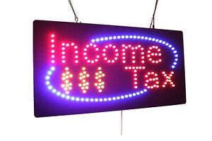 Income Tax High Quality Led Open Sign Store Sign Business Sign Window Sign