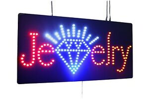 Jewelry Sign Super Bright High Quality Led Open Sign Store Sign Business Sign