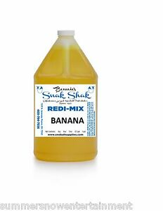 Snow Cone Syrup Banana Flavor 1 Gallon Jug Buy Direct Licensed Mfg