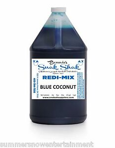 Snow Cone Syrup Blue Coconut Flavor 1 Gallon Jug Buy Direct Licensed Mfg