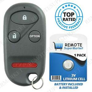 Replacement For Honda 1996 2002 Accord 1996 2000 Civic Remote Car Key Fob