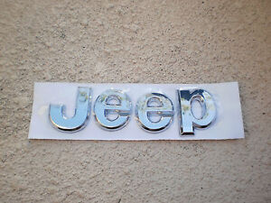 Chrome Jeep Liberty Grand Cherokee Jeep Tailgate Letters Emblem Badge New