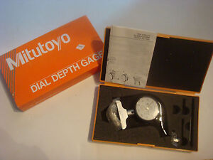 Brand New Mitutoyo 7211 Dial Depth Gauge 0 200 0 01mm
