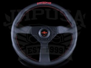 Personal Neo Grinta 350mm Leather Steering Wheel Red Stitch Logo 6430 35 2196 c