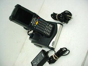 Motorola Symbol Barcode Scanner Pocket Pc Mc9090 gf0hjefa6wr Cdr9000 Cradle