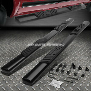 For 01 16 Chevy Silverado Crew Cab 5 Black Oval Side Step Nerf Bar Running Board