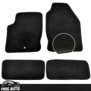 For 00 07 Ford Focus Black Nylon Front Rear Oe Factory Fitment Floor Mats