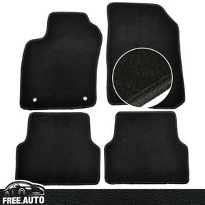 Fit For 12 17 Chevrolet Sonic Black Nylon Front Rear Floor Mats Carpet