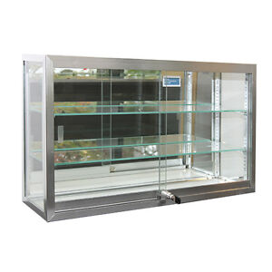 Countertop Utility Showcase 2 Adjustable Glass Shelves Display Store Fixture New