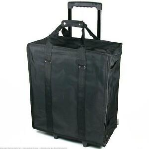 New Jewelry Display Box Black Carrying Travel Case W Wheels