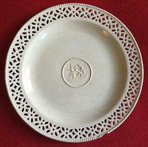 Antique Wedgwood Creamware Pottery Plate 19th Century Pearlware Neoclassical