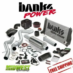 Banks Power Six Gun Bundle 06 07 Chevy 6 6l Exhaust Intake Tuner Muffler