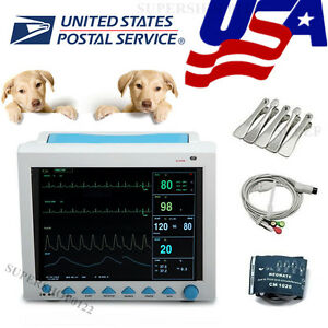 Usa Vet Portable Veterinary Patient Monitor ecg nibp spo2 pr resp temp fda Ce