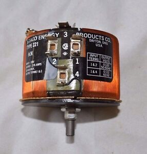 Staco Energy Products Co 221 kn Variable Transformer 1 T