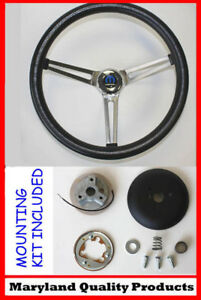 Dodge Ram Charger Grant Black Steering Wheel Fixed Column 15