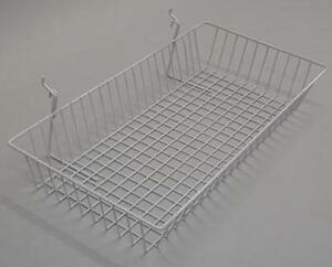 Basket Gridwall Slatwall Merchandise Display 24 l X 12 d X 4 h White Lot Of 6