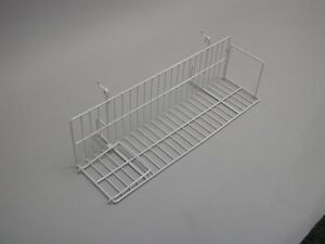 Shelf Gridwall Slatwall Store Display Video 23 1 2 Inch White Lot Of 10 New