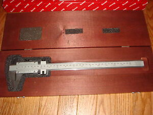 Starrett 123 Series 14 Vernier Caliper steel 14 inside outside Measurements