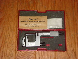 Starrett 220m 25 Mul t anvil Micrometer Ratchet Stop Lock Nut Carbide Face