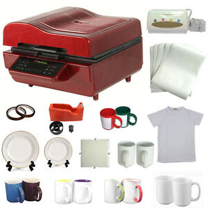 3d Heat Press Machine Sublimation Ink Transfer Mug Plate Tile T shirt Printing