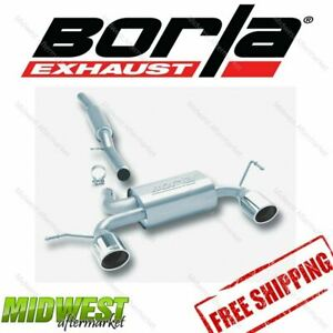 Borla S type Cat Back Exhaust Fits 2001 2006 Audi Tt Quattro 1 8t 225hp Manual