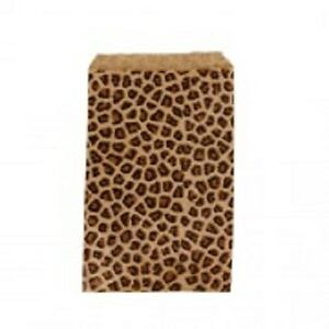 1000 Kraft Leopard Print Design Jewelry Paper Shopping Gift Bag 6x9