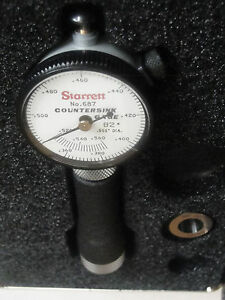 Starrett 665jz Countersink Gauge 82 Degree Angle 0 360 0 560 4 Master Rings