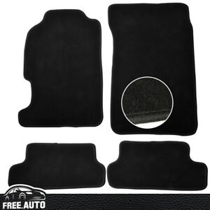 Fit For 97 01 Honda Prelude 2dr 4pcs Blk Nylon Front Rear Floor Mats Carpet