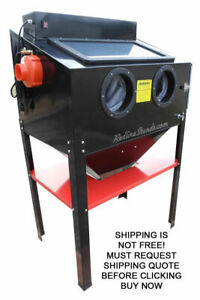 New Redline Re36 Double Light Sand Blasting Blaster Cabinet Glass Bead Media