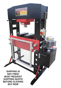Redline Re100t E Shop Press 100 Ton Automotive Hydraulic Electric Floor Metal