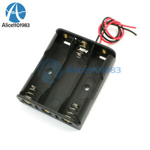 2pcs Plastic Battery Storage Case Box Holder For 3 X Aa 3xaa 4 5v Wire Leads
