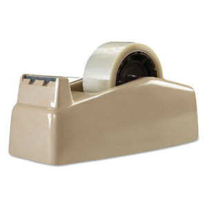 Scotch Two roll Desktop Tape Dispenser 3 Core High impact Plastic Beige C22