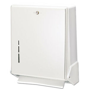 San Jamar True Fold C fold multifold Paper Towel Dispenser White 11 5 8 X 5 X 14