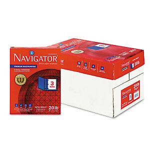 Navigator Premium Multipurpose Paper 97 Brightness 3 hole Punch 20lb Ltr We 5000