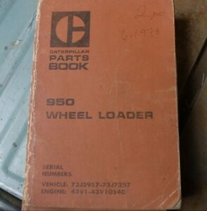 Cat Caterpillar 950 Wheel Loader Parts Manual Book Catalog List Front End Spare