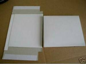 250 White Cardboard Mailers For Cd Case W Seal Js30