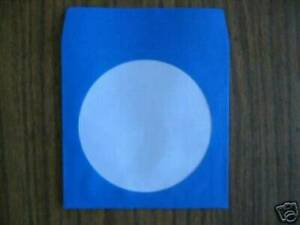 1000 Blue Cd Dvd Paper Sleeve With Window Js205